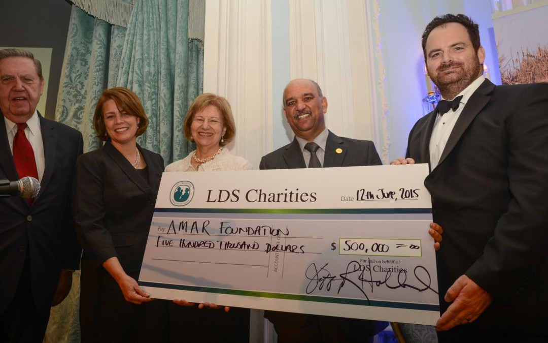 LDS Stuns Gala Dinner Guests With $500,000 Cheque For AMAR