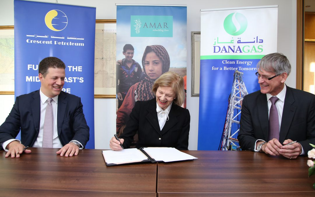 Crescent Petroleum and Dana Gas support healthcare centre for IDPs