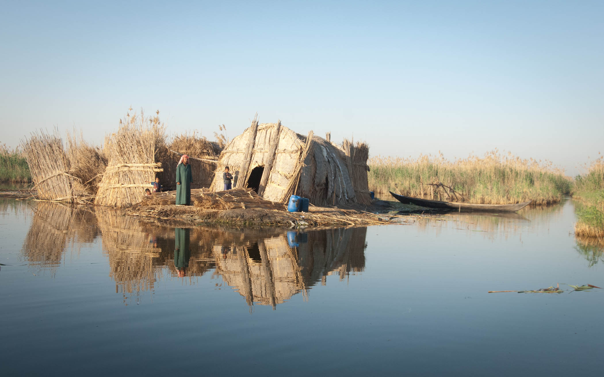 A House Built Of Reeds In The Arab Marshes Of South Eastern Iraq