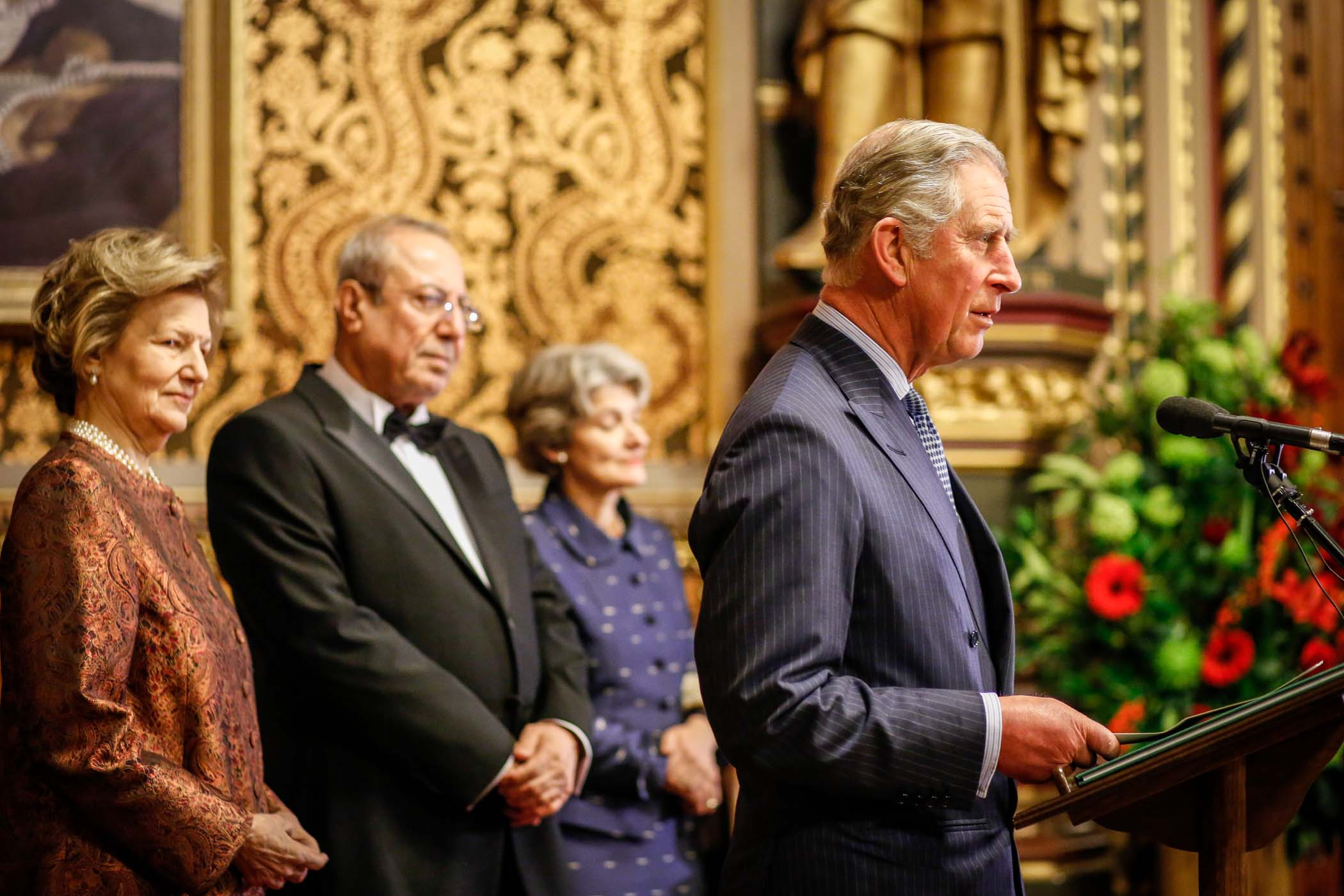 Our Patron, HRH The Prince Of Wales, Speaking At An AMAR Gala Dinner, Watched By Our Chairman, Baroness Nicholson, And Iraqi Deputy Prime Minister, Dr Rowsch Shaways.