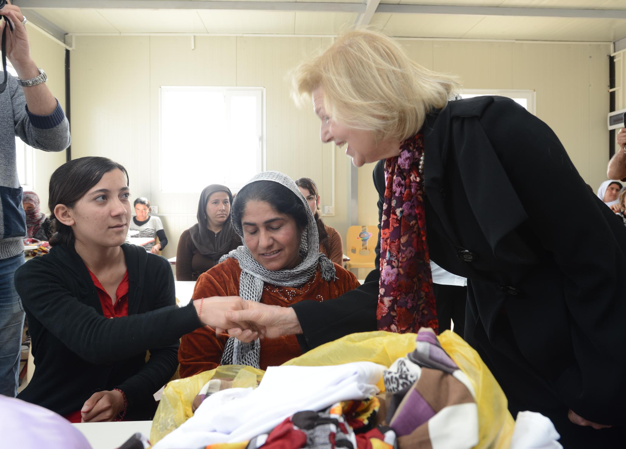 AMAR Chairman, Baroness Nicholson, Meets Members Of A Sewing Class At The AMAR/UNDP Training Centre In Khanke