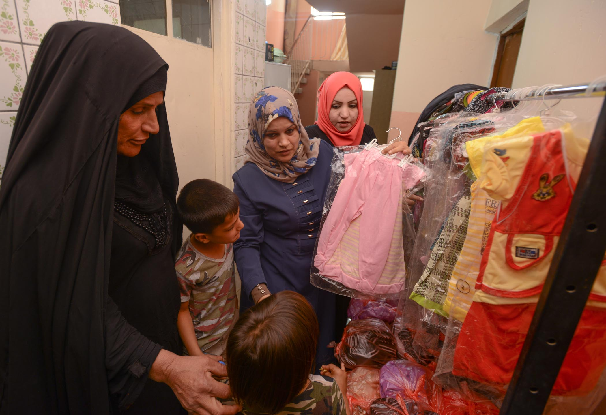 IDPs Selecting Clothes To Wear