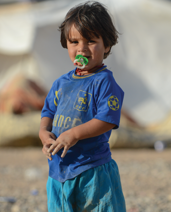 A Child In An IDP Camp