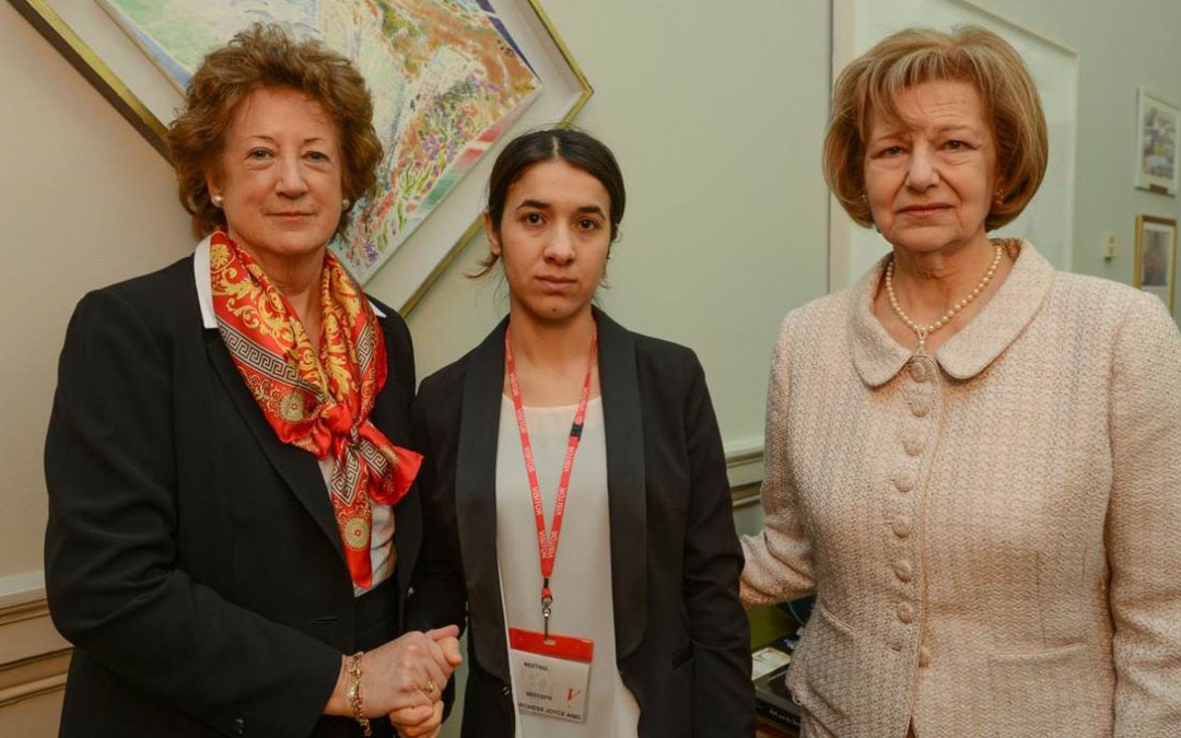 Yazidi victim of Daesh meets UK Foreign Office Minister