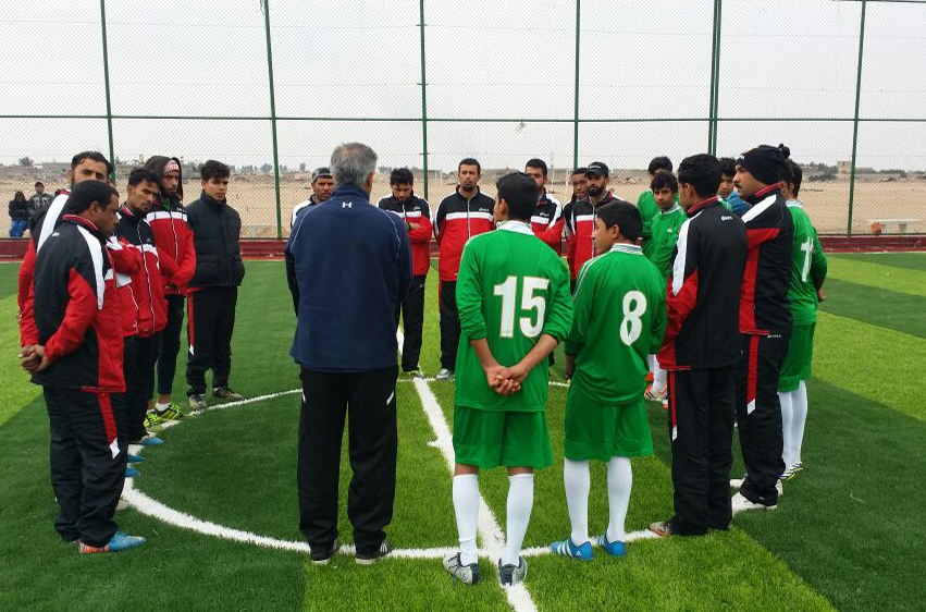 ROO and SOC pitch in to help AMAR nurture Iraqi football talent
