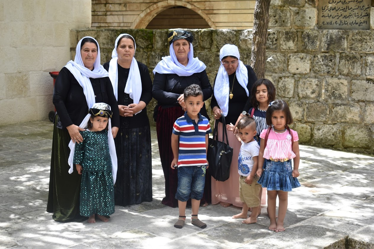 yazidi family at lalish